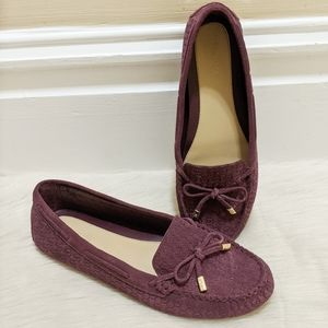 MICHAEL Michael Kors purple moccasin loafers.
